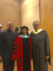 Tyrone E. Winfrey, Dr. Veronica Wilkerson Johnson, and Charles Ransom