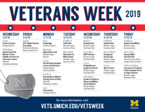 2019 Veterans Week Calendar