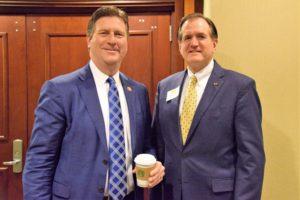 Rep. Greg Stanton visits with UM Alumni Association President Steve Grafton