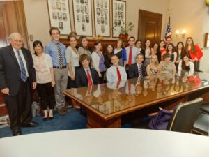PSIP students with Senator Carl Levin